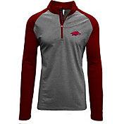 Levelwear Men's Arkansas Razorbacks Grey/Cardinal Mayhem Quarter-Zip Shirt