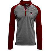 Levelwear Men's South Carolina Gamecocks Grey/Garnet Mayhem Quarter-Zip Shirt