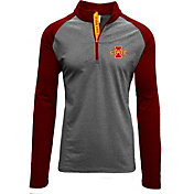 Levelwear Men's Iowa State Cyclones Grey/Cardinal Mayhem Quarter-Zip Shirt