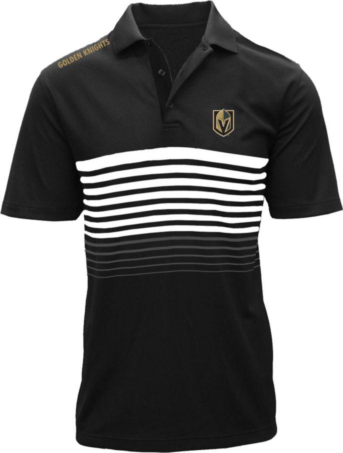 buy online e737e d8ecb Levelwear Men's Vegas Golden Knights Insignia Wordmark Black Polo