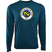 Levelwear Youth Nashville SC Core Logo Navy Heathered Long Sleeve Shirt