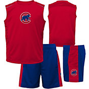 Majestic Boys' Chicago Cubs Home Stand Shorts & Top Set