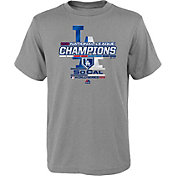 Majestic Boys' 2018 NL Champions Locker Room Los Angeles Dodgers Grey T-Shirt