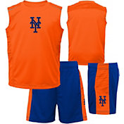 Majestic Boys' New York Mets Home Stand Shorts & Top Set