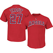 Majestic Boys' Los Angeles Angels Mike Trout Red T-Shirt