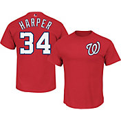 Majestic Boys' Washington Nationals Bryce Harper Red T-Shirt