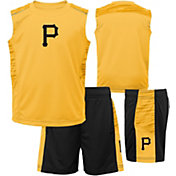 Majestic Boys' Pittsburgh Pirates Home Stand Shorts & Top Set