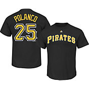 Majestic Boys' Pittsburgh Pirates Gregory Polanco #25 Black T-Shirt