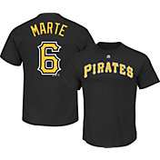 Majestic Boys' Pittsburgh Pirates Starling Marte #6 Black T-Shirt
