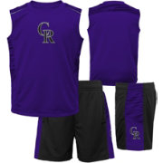 Majestic Boys' Colorado Rockies Home Stand Shorts & Top Set