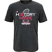 Majestic Boys' 2018 World Series Champions Locker Room Boston Red Sox Grey T-Shirt