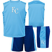Majestic Boys' Kansas City Royals Home Stand Shorts & Top Set