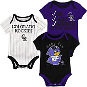 Majestic Infant Colorado Rockies 3-Piece Onesie Set