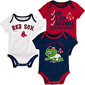Majestic Infant Boston Red Sox 3-Piece Onesie Set