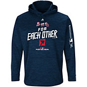 Majestic Men's Atlanta Braves 2018 MLB Postseason Navy On-Field Therma Base Hoodie