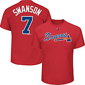 Majestic Men's Atlanta Braves Dansby Swanson #2 Red T-Shirt