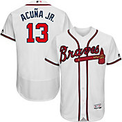 Majestic Men's Authentic Atlanta Braves Ronald Acuña #13 Flex Base Home White On-Field Jersey