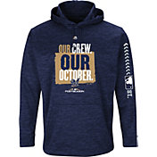 Majestic Men's Milwaukee Brewers 2018 MLB Postseason On-Field Therma Base Hoodie