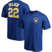 Majestic Men's Milwaukee Brewers Christian Yelich #22 Royal T-Shirt