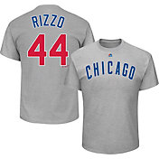 Majestic Men's Chicago Cubs Anthony Rizzo #44 Grey T-Shirt