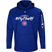 Majestic Men's Chicago Cubs 2018 MLB Postseason Royal On-Field Therma Base Hoodie
