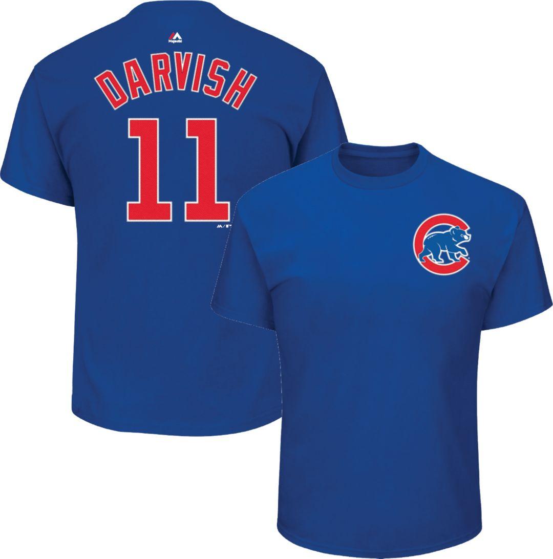 purchase cheap 9c174 c3359 Majestic Men's Chicago Cubs Yu Darvish #11 Royal T-Shirt