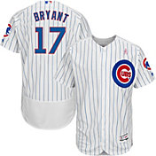 Majestic Men's Authentic Chicago Cubs Kris Bryant #17 Flex Base Home White On-Field Jersey w/ 2018 Mother's Day Ribbon