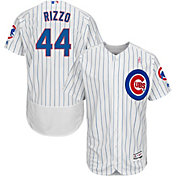 Majestic Men's Authentic Chicago Cubs Anthony Rizzo #44 Flex Base Home White On-Field Jersey w/ 2018 Mother's Day Ribbon