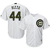 Majestic Men's Replica Chicago Cubs Anthony Rizzo #44 Cool Base Home White 2018 Memorial Day Jersey