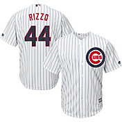 Majestic Men's Replica Chicago Cubs Anthony Rizzo #44 Cool Base Home White 2018 4th of July Jersey