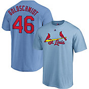 Majestic Men's St. Louis Cardinals Paul Goldschmidt #46 Light Blue T-Shirt