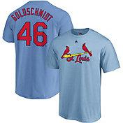 Majestic Men's St. Louis Cardinals Paul Goldschmidt #46 Light Blue T-Shirt