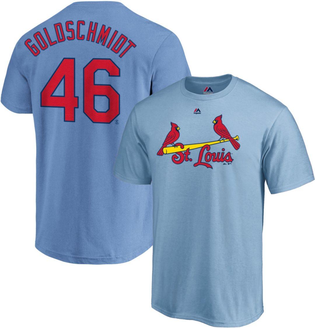 promo code dd6a0 c88be Majestic Men's St. Louis Cardinals Paul Goldschmidt #46 Light Blue T-Shirt
