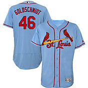 Majestic Men's Authentic St. Louis Cardinals Paul Golsdchmidt #46 Flex Base Alternate Light Blue On-Field Jersey