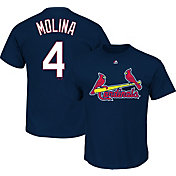 Majestic Men's St. Louis Cardinals Yadier Molina #4 Navy T-Shirt