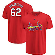 Majestic Men's St. Louis Cardinals Daniel Poncedeleon #62 Red T-Shirt