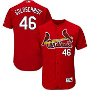 Majestic Men's Authentic St. Louis Cardinals Paul Golsdchmidt #46 Flex Base Alternate Red On-Field Jersey