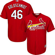Majestic Men's Replica St. Louis Cardinals Paul Golsdchmidt #46 Cool Base Alternate Red Jersey