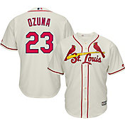 Majestic Men's Replica St. Louis Cardinals Marcell Ozuna #23 Cool Base Alternate Ivory Jersey