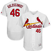 Majestic Men's Authentic St. Louis Cardinals Paul Golsdchmidt #46 Flex Base Home White On-Field Jersey