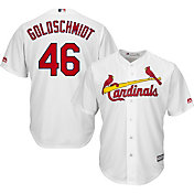 Majestic Men's Replica St. Louis Cardinals Paul Goldschmidt #46 Cool Base Home White Jersey