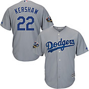 Majestic Men's 2018 World Series Replica Los Angeles Dodgers Clayton Kershaw Cool Base Alternate Road Grey Jersey