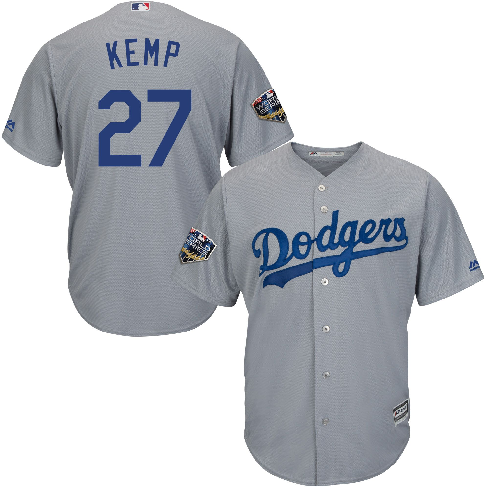 Sport Dodgers Matt Kemp 27 Blau Mlb Baseball T-shirt Los Angeles L.a