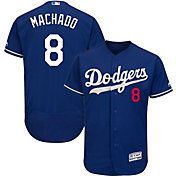 Majestic Men's Authentic Los Angeles Dodgers Manny Machado #8 Flex Base Alternate Royal On-Field Jersey