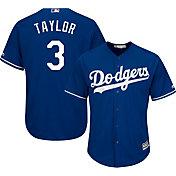 Majestic Men's Replica Los Angeles Dodgers Chris Taylor #3 Cool Base Alternate Royal Jersey