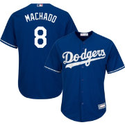 Majestic Men's Replica Los Angeles Dodgers Manny Machado #8 Cool Base Alternate Royal Jersey