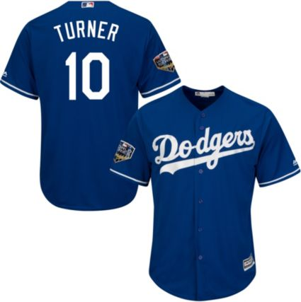 5f963eaaa Majestic Men s 2018 World Series Replica Los Angeles Dodgers Justin Turner  Cool Base Alternate Royal Jersey. noImageFound
