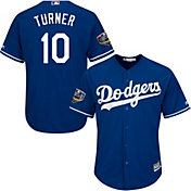 Majestic Men's 2018 World Series Replica Los Angeles Dodgers Justin Turner Cool Base Alternate Royal Jersey