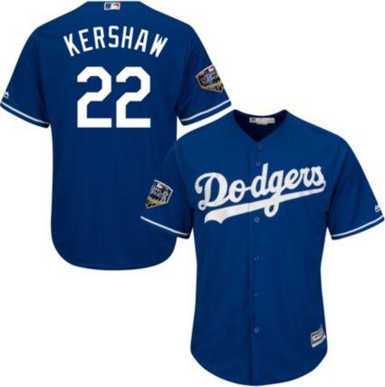 Majestic Men s 2018 World Series Replica Los Angeles Dodgers Clayton  Kershaw Cool Base Alternate Royal Jersey d3444ab9659
