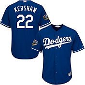Majestic Men's 2018 World Series Replica Los Angeles Dodgers Clayton Kershaw Cool Base Alternate Royal Jersey